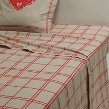 La Redoute Interieurs Fallaz Red Check Print Flat Sheet