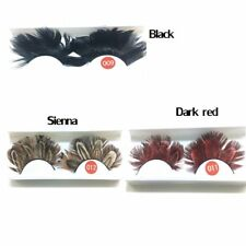 New 1 pair False Eyelashes Feather Exaggeration Ballet Masquerade /Party Feather