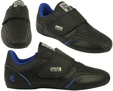 MENS DESIGNER TRAINERS GIO GOI COMFORT SNEAKERS IN BLACK  STRAP ON SHOES 3-12