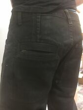SLAB by Rick Owens Black Wax MBA2807 Jeans Men's New Straight Leg sz 35 34 30 32