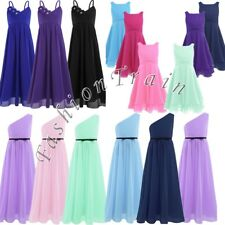 Chiffon Flower Girls Princess Formal Gown Party Wedding Bridesmaid Pageant Dress