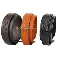 Punk Wide Cuff Bangle Brown Yellow Black Two Layers Leather Cuff Bracelet Unisex