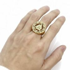 Fashion Silver Gold Color Plated Stainless Steel Ring For Men (Size 7-15)