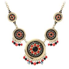 Fashion Hand Made Ethnic Enamel  Multi Color Choker Necklace For Women