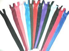 """ZIPS INVISIBLE/CONCEALED 8""""/20CM NYLON X5, ASSORTED COLOURS"""
