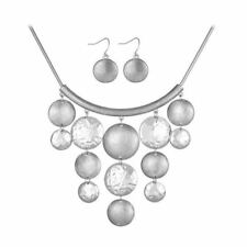 Women Charming Big Round New Fashion Necklace Earring Jewelry Set