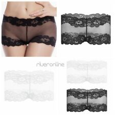 Sexy Womens Lingerie Floral See Through Lace Boyshort Underwear Underpants Mesh