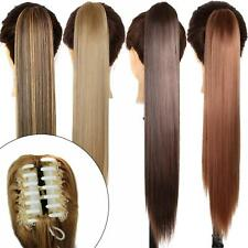 23'' Synthetic Straight Ponytail Clip-In Hair Extensions Multi-color Hair piece