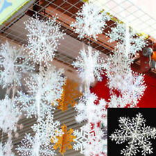 30pcs Holiday Party Christmas White Snowflake Charms Festival Ornaments Decor