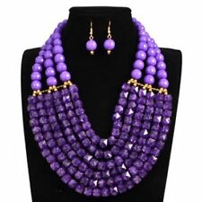 Handmade Wedding Occasion Braid Jewelry Sets Fashionable Necklace for Women