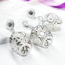 Women Square Hollow Out New Fashion Earrings Pendant  Bridal Jewelry Sets