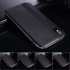 Luxury Carbon Fiber Soft Silicone Rubber Ultra Thin Slim Cover Case For iPhone X