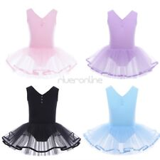 Kids Girl Baby Cotton Tulle Gymnastics Ballet Dancer Leotard Dress Dancewear New