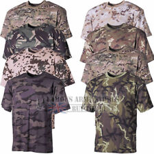 CAMO T-SHIRT MENS COMBAT CAMOUFLAGE ARMY MILITARY SPECIAL OPS HUNTING FISHING