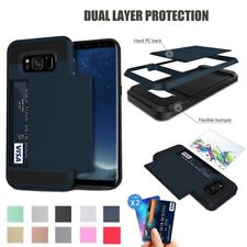 Shockproof Slide Card Slot Rugged Combo Case Cover For Samsung Galaxy S Series