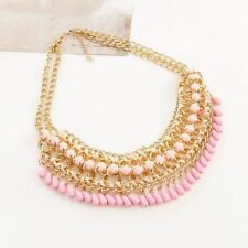 Women Colorful New Fashion Bead Decorative Chain Wedding Necklace