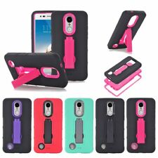 Heavy Duty Shockproof Hybrid PC + TPU Stand Armor Bumper Case Cover For LG Model