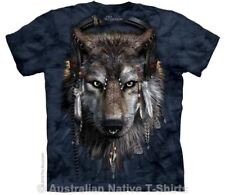 DJ Fen Adults Wolf T-Shirt - Native American Wolves by The Mountain T-Shirts