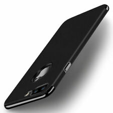 For iPhone 8 Plus 7 6 Luxury Slim PU Leather Hybrid Hard Plating Back Case Cover