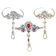 Lady Crystal Anklet Chain Toe Ring Barefoot Sandal Beach Foot Jewelry Diwali