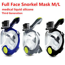 Full Face Mask Scuba Snorkeling Masks Diving Water Sports Goggles Pipe For GoPro