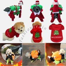 Christmas Pet Clothes Party Dog Hoodies Jacket Coat Puppy Cat Fancy Costume New