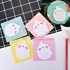 1X Cute Rabbit Sticky Notes Sticker Bookmarker Memo Pad Home Office Class LJ
