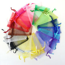 100 pcs Organza Bags Wedding Pouches Jewelry Packaging Bags Gift Bag Mix Colors