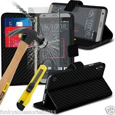 Leather Wallet Quality Phone Case✔Glass Screen Protector✔HTC Desire 650