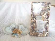 Cherished Teddies Double Heart Wedding Picture Frame 1999 Collecitible 675806