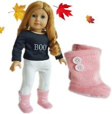 """Doll Clothes AG 18"""" Boots Knit Pink Made To Fit American Girl Dolls"""