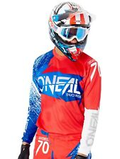 Oneal Red-White-Blue 2018 Element Burnout Long Sleeved MTB Jersey