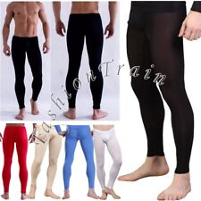 Sexy Mens Long Johns Pants Thermal Low Rise Underwear Underpants Clubwear M L XL