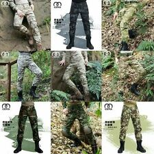 Men Outdoor Tactical Pants Army Military Combat Cargo Camo Combat Trousers New