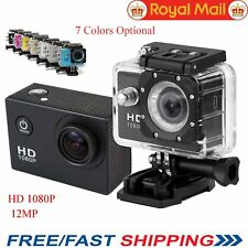Waterproof Full HD 1080P 12MP Car Cam Sports Action Camera DV Camcorder Video