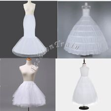 Women Mermaid Hoop Crinoline Petticoat Slips Underskirt Bridal Wedding Dress New