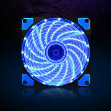 DC 12V 3/4Pin 12cm 120mm Computer PC Clear Case Red LED Cooling Cooler Fan