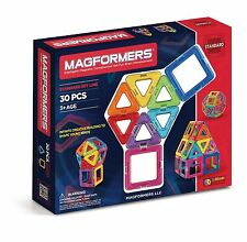 Magformers Magnetic Construction Set For Brain Development 30Pc Standard Set New