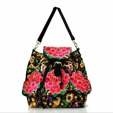 New Design Vintage Embroidery Multi-Function Backpack For Teenager Girl