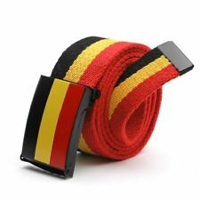 Men Casual Style Canvas Material Stripe Print Pattern Solid Color Belt