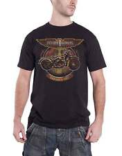 The Doobie Brothers T Shirt Motorcycle Tour 87 band logo Official Mens Black