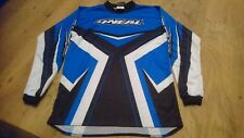 ONEAL ELEMENT MOTOCROSS JERSEY YOUTH KIDS CHILDS BLUE AND BLACK YOUTH XL XXL KXL