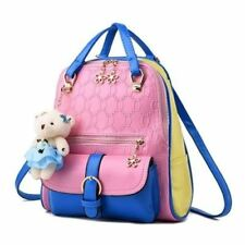 Women Simple Style Pu Leather Material Adjustable Strap Backpack