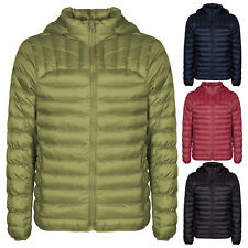 Men's Quilted Padded Hooded Puffer Bubble Collar Warm Thick Jacket Coat Top S-XL