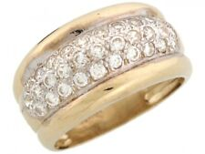 10k or 14k Solid Yellow Gold CZ Anniversary Wedding Band Ring