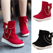 elegant women Snow Boots suede red black bowknot  Real Suede Leather warm Shoes