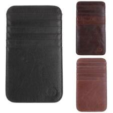 MENS SMALL ID CREDIT CARD WALLET HOLDER SLIM MONEY CLIP CASE POCKET 12-SLOT