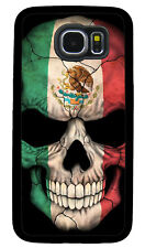 MEXICO SKULL FLAG PHONE CASE COVER FOR SAMSUNG NOTE & GALAXY 3 S4 S5 S6 S7 S8 S9