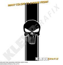 Universal Punisher Hood Stripe Decal Vinyl Decal Graphics Racing Stripes