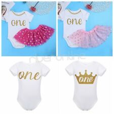 Fancy Infant Baby Girl ONE First Christmas Birthday Outfit Romper Tutu Dress Set